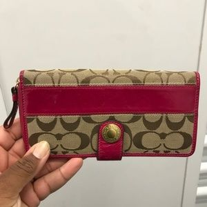 Coach Pink/Brown Wallet